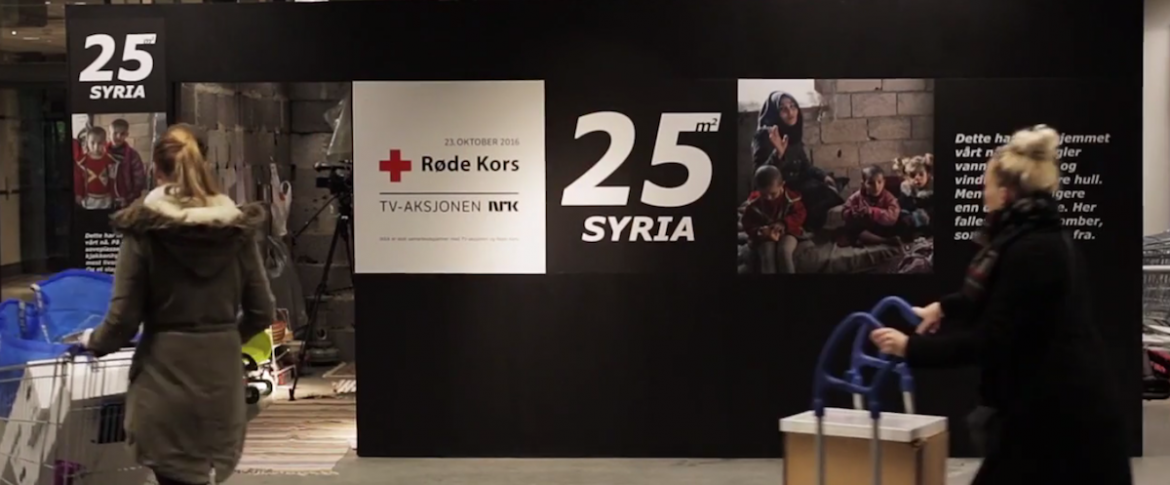 War-Torn Syrian Home Represented In IKEA Norway Store | Hybrid Talks